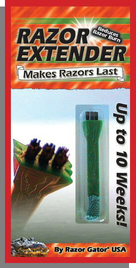 razor gator razor extender extends the life of razors and reduces razor burn and rash